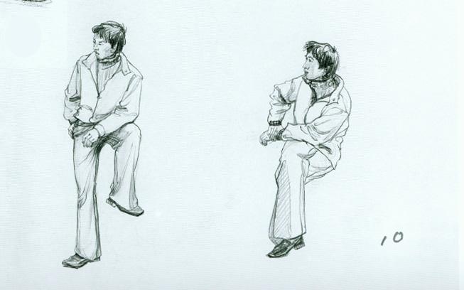 宁宁de儿画园的日志 - 网易博客; 正面站立人物速写; 高考速写训练