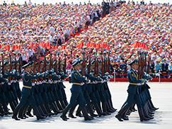 吉尔吉斯斯坦军队方队[组图]